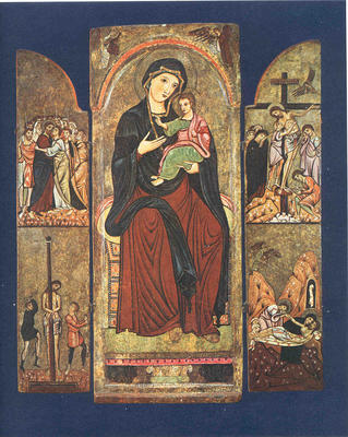 Madonna and Child Enthroned; Four Scenes of the Passion; Saints Anthony and Francis