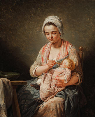 "Mother Feeding her Child (""Le Devoir Maternee"" or ""La Bouille"")"