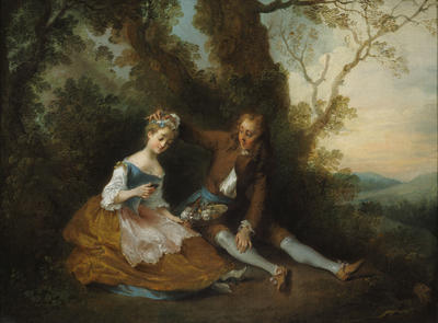 Young Lovers in a Landscape (La Bergere au Mirror)
