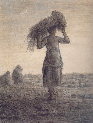 Gleaner Returning Home with Her Grain