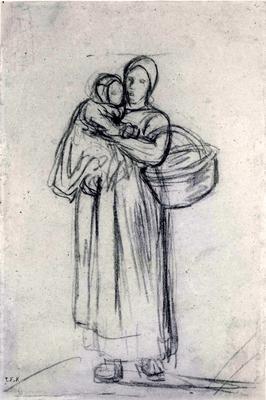 Femme Portant son Enfant