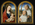 Virgin and Child with Rosary, St. Bernard with Cistercian Monk, Guillaume Bollart with the Abbess of Flines, Jeanne de Boubais on the reverse