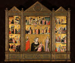 Madonna and Child with Saints; Scenes from the Life of Christ and the Life of the Virgin