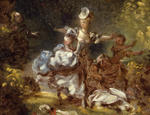 Study for the Pursuit Panel, now in Fragonard Room, Frick Collection, New York